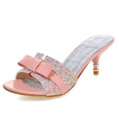 Women's Shoes Low Heel Heels / Peep Toe / Slippers Sandals Wedding / Party & Evening / Dress Black / Pink / White