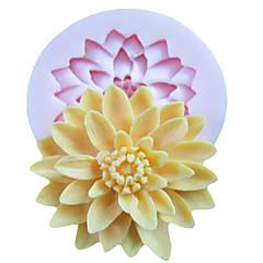 ein Loch tief Blume Silikonform Fondant-Zuckerfertigkeit Formen Werkzeuge Harz Blumen Form für Kuchen