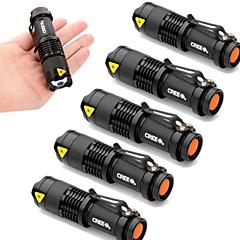 Lanternas LED LED 3 Modo 2000 LumensFoco Ajustável / Prova-de-Água / Resistente ao Impacto / Super Leve / Alta Intensidade / Zoomable /
