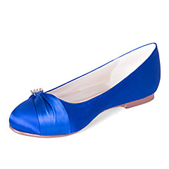 Women's Wedding Shoes Round Toe Flats Wedding/Casual/Party & Evening Black/Blue/Pink/Purple/Ivory/White/Silver