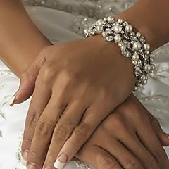 Bracelet Chaîne / Grappe / Bracelet Rond Imitation de perle / Alliage Perle imitée / Strass Femme