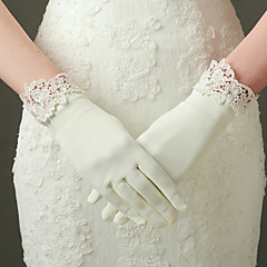 Elbow Length Fingertips Glove Nylon / Elastic Satin Bridal Gloves / Party/ Evening Gloves