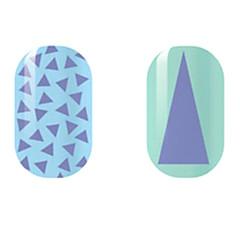 paars / driehoek holle nagel stickers