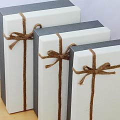 3 יחידה / סט מחזיק לטובת-דמוי קוביה נייר כרטיסים קופסאות מתנה ללא התאמה אישית