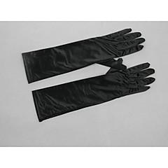 Elbow Length Fingertips Glove Satin / Elastic Satin Bridal Gloves / Party/ Evening Gloves / Winter Gloves Spring / Summer / Fall / Winter
