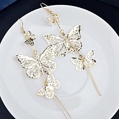 Retro Earrings Ear Pendants Eardrop Long Multi Hollowed-Out Butterfly Style Wedding Decoration