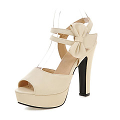 Women's Shoes Leatherette Chunky Heel Heels Sandals Wedding / Office & Career / Party & Evening / Dress