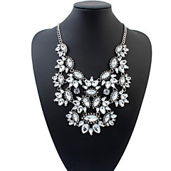 Women Fashion Luxury Statement Colorful Flower Necklace Luxury Drop Brand Necklace