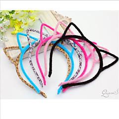 orelha em forma headbands de gato preto doce flanela para as mulheres (preto, cinza) (1 pc)