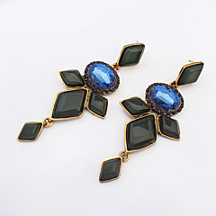 Sapphire Crystal Rhinestones Earrings Simple And Stylish Dress Accessories
