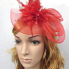 Mujer Pluma / Lino / Red Celada-Boda Bandas de cabeza / Tocados 1 Pieza