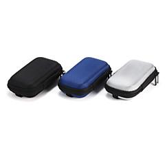 """1pc SD אחיזה במקרה אחסון נושא את קופסת התיק סיבים קשה האוזניות אוזניות אוזניות 10.5 * 5.5 * 2 ס""""מ שחור אפור כחול"""