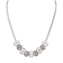 Single Line Silver Beads Necklace Fashion Jewelry 2016 Elegant Women