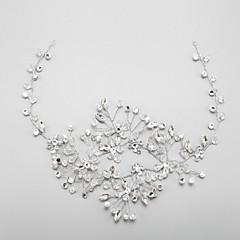 Vrouwen / Bloemenmeisje Bergkristal / Kristallen / Licht Metaal Helm-Bruiloft / Speciale gelegenheden Hoofdbanden 1 Stuk Helder Rond