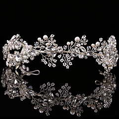 נשים ריינסטון סגסוגת דמוי פנינה כיסוי ראש-חתונה אירוע מיוחד חוץ סרטי ראש חלק 1