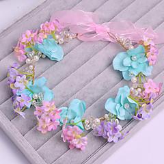 Femme Tulle / Imitation de perle / Tissu Casque-Mariage / Occasion spéciale / Décontracté Fleurs 1 Pièce