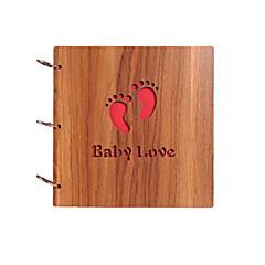 DIY 26 * 26 cm 12 tuuman puu kattaa käsintehtyjä leikekirjakuvien albumissa 30kpl musta paperi perhe / vauvan / ystäville / lahjat