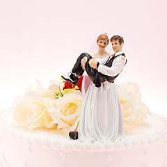Cake Topper Non-personalized Classic Couple Resin Wedding / Anniversary / Bridal Shower White Classic Theme 1 Gift Box