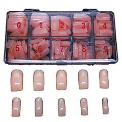 500 stuks fleshcolor valse volledige nagel tips dekken decoratie voor vinger acryl tips