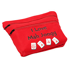 Royal St. 23 mm Miniatur-Kristall Mahjong mit Tuch Reisetaschen Elfenbein / Stofftaschen