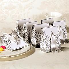 12 יחידה / סט מחזיק לטובת-פירמידה נייר כרטיסים קופסאות קישוט תיקי קישוט קופסאות מתנה שקיות לעוגיות ללא התאמה אישית