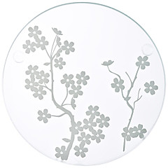COASTER-Tonda-Spiaggia / Giardino / Asiatico / Floreale / Farfalla / Classico / Favola / Vintage Theme / Rustico Tema- diVetro