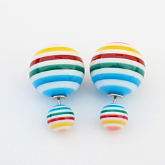 Colorful Sweet Candy-colored Hot Air Balloon Sided Wear Earrings