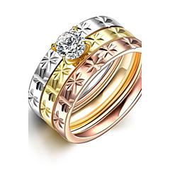 טבעות,פלדה גדילים / אופנתי / סגנון בוהמיה / סטייל פאנק / מתכווננת / מקסים חתונה / Party / יומי / קזו'אל / ספורט תכשיטיםטבעות רצועה /