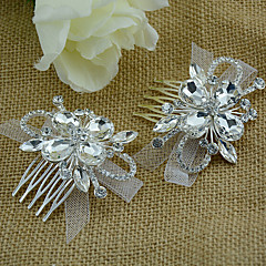 Women's Rhinestone / Tulle / Alloy Headpiece-Wedding / Special Occasion Hair Combs 1 Piece