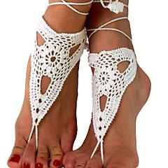 Damskie Łańcuszek na kostkę/Bransoletki Materiał Unikalny Modny Korygujący Godny podziwu minimalistyczny styl Biżuteria WhiteObuwie