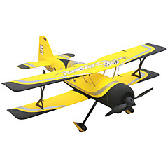 Dynam Pitts model 12 1:8 Borstelloos Elektrisch 50KM/H RC quadcopter 4ch 2.4G EPO Yellow Enige assemblage vereist