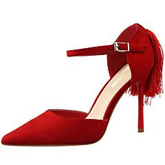 נעלי נשים-עקבים-סוויד-עקבים / נוחות / שפיץ-שחור / ורוד / אדום / אפור / כתום / חאקי-שמלה / מסיבה וערב-עקב סטילטו