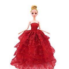 Puppenkleidung Freizeit Hobbys Kostüm Hochzeitskleid Abendkleid Plastik Rot Für Mädchen 5 bis 7 Jahre