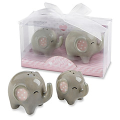 Recipient Gifts - 1Box/Set Mommy and Me Little Peanut Ceramic Elephant Salt & Pepper Shakers Favors