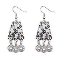 Retro Earrings Jewels Chinese Coins