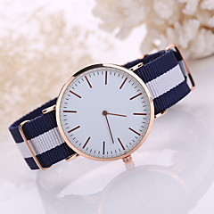 Korean Style Fabric Band White Case Analog Quartz Watch Jewelry for Men/Women Fashion Watch