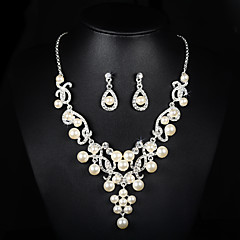 Jewelry Set Women's Anniversary / Wedding / Engagement / Birthday / Special Occasion Jewelry Sets AlloyImitation Pearl /
