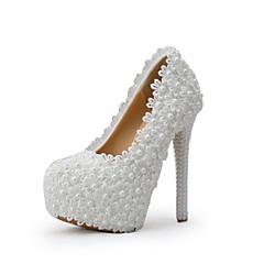 Dámské-Svatební obuv-Podpatky-Lodičky-Svatba / Šaty / Party-Zelená / Růžová / Fialová / Bílá / Champagne