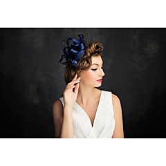 Women's Feather / Tulle Headpiece-Special Occasion Fascinators 1 Piece Clear