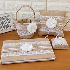 sengetøy bryllup samling sett (4 stk)