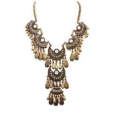 Retro Fashion Necklace Fan-Shaped Water Droplets
