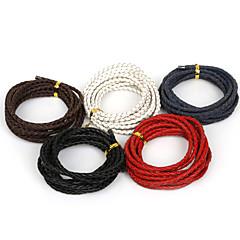beadia 4mm 꼰 가죽 코드 맞는 목걸이&팔찌 2mts 길이 (5 색)