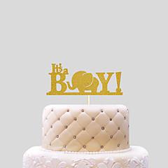 Tortenfiguren & Dekoration Nicht-personalisierte Lustig & außergewöhnlich Kartonpapier Babyparty Schleife GoldStrand Thema / Klassisches