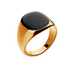 Homens Anéis Grossos Moda bijuterias 18K ouro Opala Liga Jóias Para Festa Diário Casual Presentes de Natal