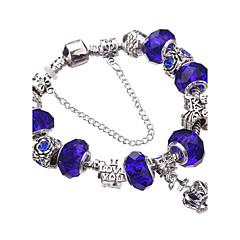נשים בנות צמידי צ'ארם צמידים צמידי Strand Silver Bracelets קריסטל עמיד אופנתי מקסים חרוזים ארופאי תכשיטים אקרילי אבן נוצצת מצופה כסף