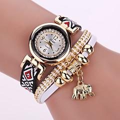 Damen Modeuhr Armbanduhren für den Alltag Quartz Leder Band Schwarz Weiß Blau Rosa