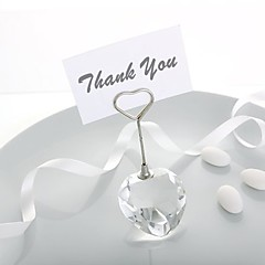 1Piece/Set - Crystal Heart Design Place Card Holders Wedding Décor BETER-SJ003 Party Reception