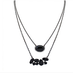 Fashion Simple Necklace Long Section Oval Drops