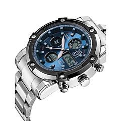 ASJ גברים שעוני ספורט שעוני שמלה שעוני אופנה שעון דיגיטלי שעון יד Japanese קווארץ דיגיטליLCD כרונוגרף עמיד במים אזור זמן כפול שעון עצר