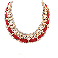 Fashion Wild Short Paragraph Clavicle Chain Weave Of Interlocking Diamond Necklace Ms.
